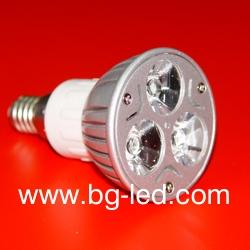 LED Spot Light E14-3X1W-CW