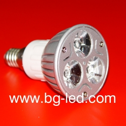 LED спот лампа E14-3X1W-CW