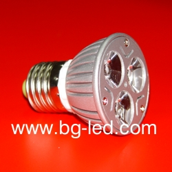 LED Spot Light E27-3X1W-CW